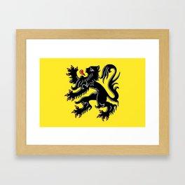 Flag of Flanders - Belgium,Belgian,vlaanderen,Vlaam,Oostende,Antwerpen,Gent,Beveren,Brussels,flamish Framed Art Print