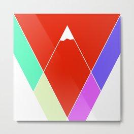 Mountain Geometry Metal Print