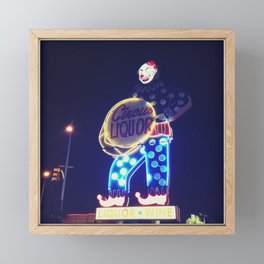 Circus Liquor Neon Sign Framed Mini Art Print