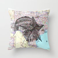 texas Throw Pillows featuring Texas by Ursula Rodgers