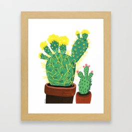 Two Cacti Framed Art Print