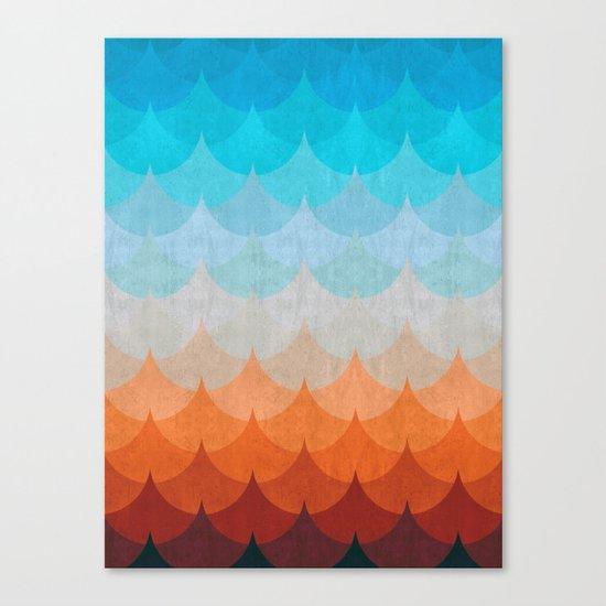 Colorful minimalist waves II Canvas Print