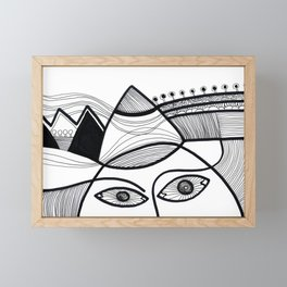 Faces Landscape Framed Mini Art Print