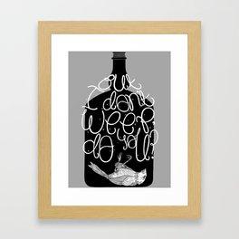 Bluebird - Bukowski Framed Art Print