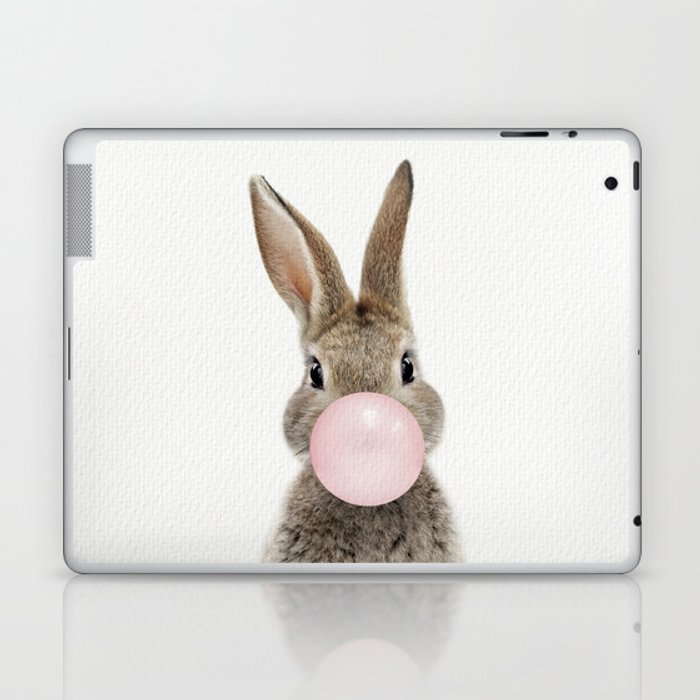 Bubble Gum Bunny Laptop & iPad Skin