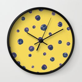 Blueberry Custard Wall Clock
