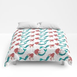 Red Haired Mermaids Pattern Comforters