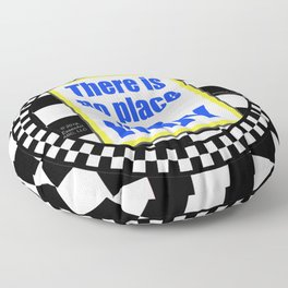 There Is No Place Like INDY, blue & yellow Floor Pillow