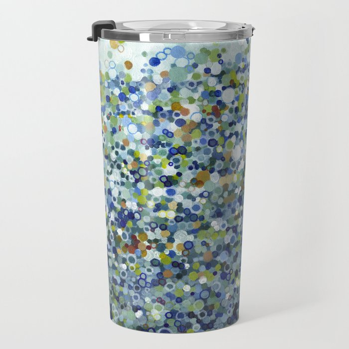 Leo Carrillo Dotted Beach Pattern Travel Mug