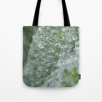 ukraine Tote Bags featuring Ukraine dew drops #7029  by Photography by Stefanie Jasper