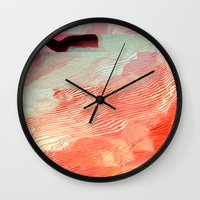 waves Wall Clocks featuring Waves by Okti