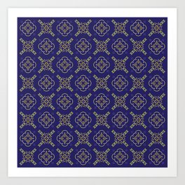 Royal [abstract pattern B] Art Print