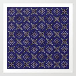 Royal [abstract pattern B] Art Print