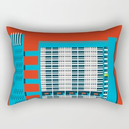 Balfron Tower, Brutalist London Art Print Rectangular Pillow