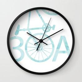 Watercolor 30A Bike Wall Clock