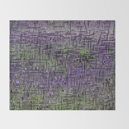 Lavender Hues Abstract Throw Blanket