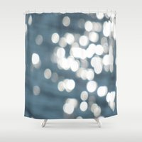 sparkles Shower Curtains featuring Sparkles by Lady Tanya bleudragon