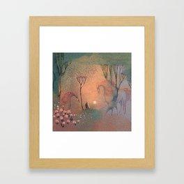 Good-bye Sun Framed Art Print