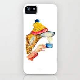 Watercolor dog  iPhone Case