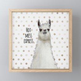Hot Mess Llama Framed Mini Art Print
