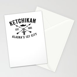 Ketchikan Alaska's First City Distressed Souvenir Novelty  Pullover Hoodie Stationery Cards