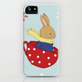 Tea Time in the Snow iPhone Case