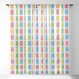 Rainbow Gummy Bears Sheer Curtain