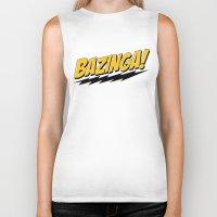 bazinga Biker Tanks featuring Bazinga by Maxx Hendriks