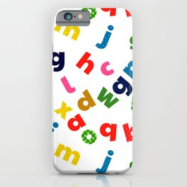 colourful alphabet iPhone Case