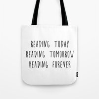reading Tote Bags featuring Reading by IA Apparel