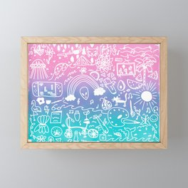 all these things that I love Framed Mini Art Print