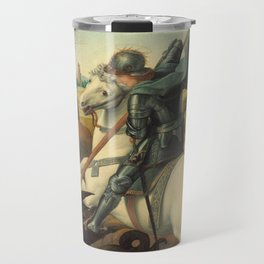 Saint George and the Dragon Oil Painting By Raphael Travel Mug