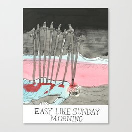 Easy Like x Judgmental Deck Canvas Print