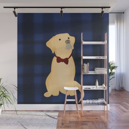 Best Friend Labrador Puppy In A Bow Tie Wall Mural