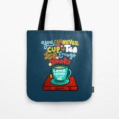 Tea & Books Tote Bag