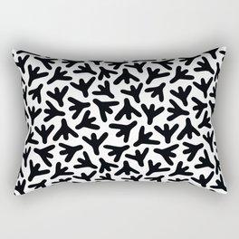 Chicken Feet - Geometric Shapes Pattern (Black) Rectangular Pillow