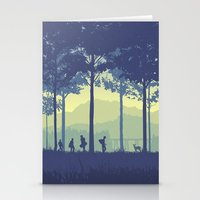 stand by me Stationery Cards featuring Stand By Me by Ape Meets Girl