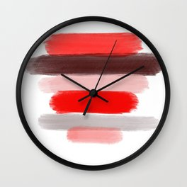 Red Lips Wall Clock