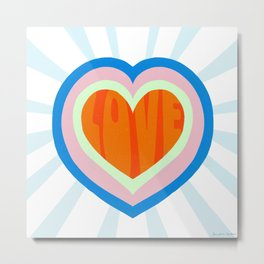 heart of love, orange Metal Print