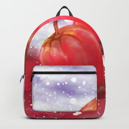 Glitter Red Apple Fruit Galaxy Backpack