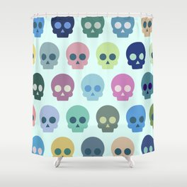 Colorful Skull Cute Pattern Shower Curtain