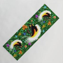 Paradise Bird Fire Feathers Yoga Mat