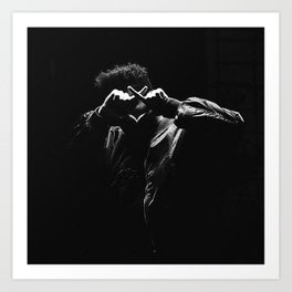 The.Weeknd Portrait black and white Art Print