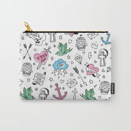 Tattoos Pink Carry-All Pouch