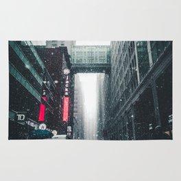 New york under the snow Rug