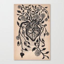 Yes, or Prayer for an Abundant Heart Canvas Print