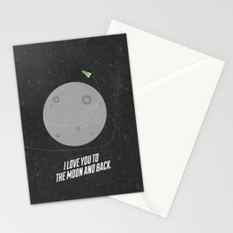 I Love You to the Moon  Stationery Cards