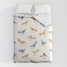 Pigeon Party Birds Comforters