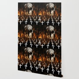 """""""Death Reigns"""" - Skull and Crosses Wallpaper"""