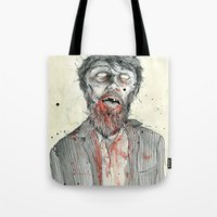 zombie Tote Bags featuring Zombie! by Chris Gauvain